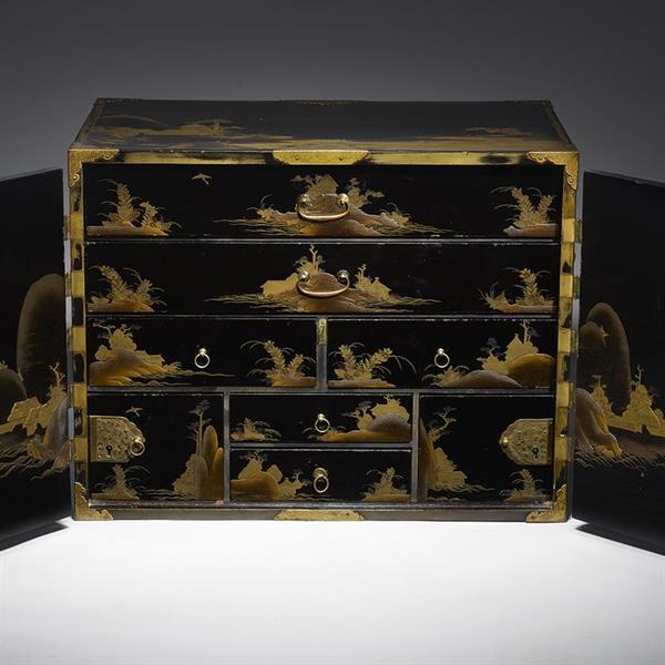 3. Fine Export Lacquer Cabinet