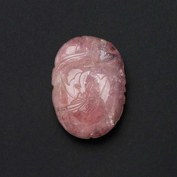 37. Tourmaline Pebble Carving