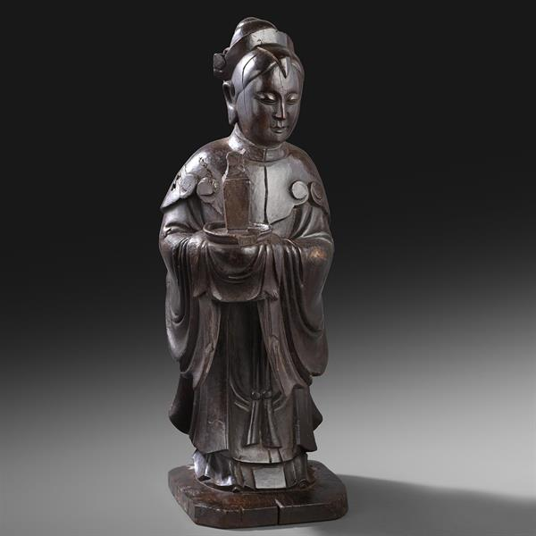 5. Carved Wooden Figure of Guanyin