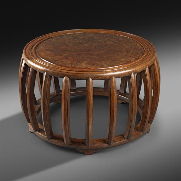 6. Low Wooden Table with Rich Patina