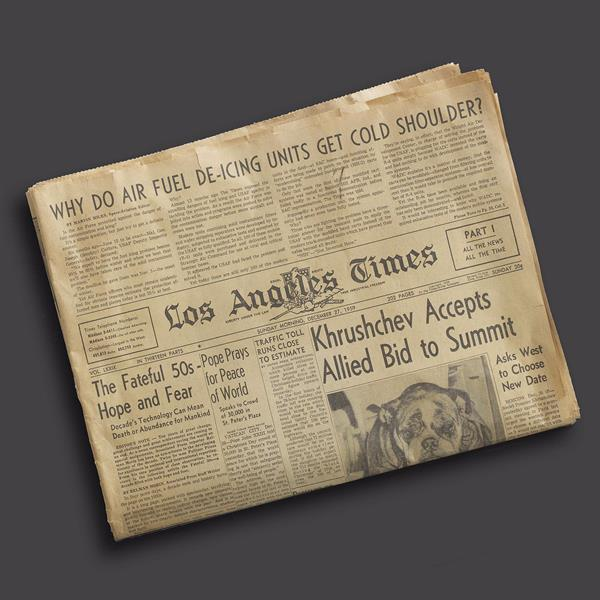 1. Los Angeles Times: December 27th 1959