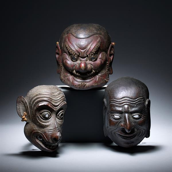 12. Three Noh Masks