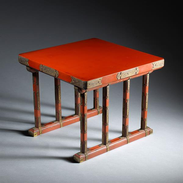 18. Red Lacquer Stand