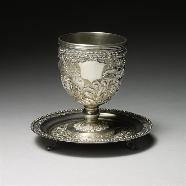20. Silver Wine Cup and Saucer